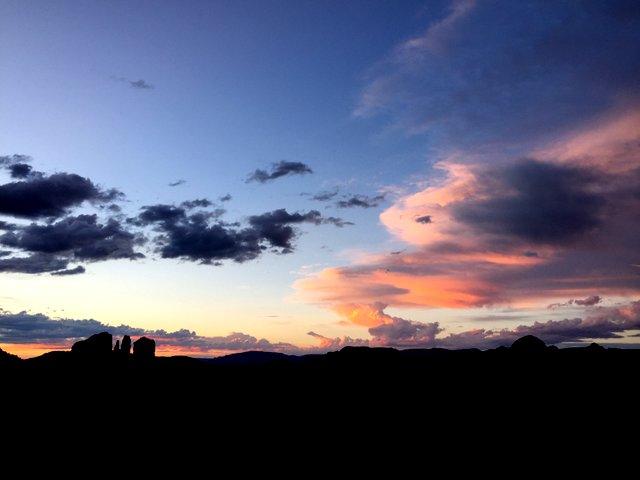 ボルテックス雲/夕日