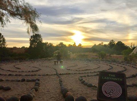 夕日瞑想/ラビリンス